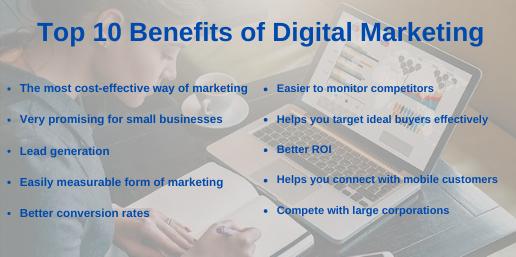 Top 10 Benefits of Digital Marketing